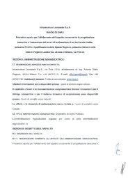 Infrastrutture Lombarde SpA BANDO DI GARA Procedura aperta per ...