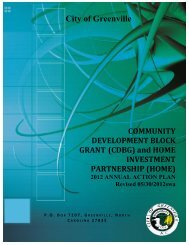 2012 - 2013 Annual Action Plan - City of Greenville