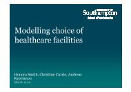 Modelling choice of healthcare facilities