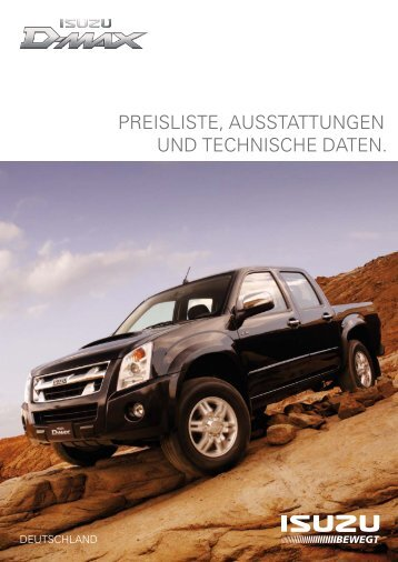 katalog isuzu d max zubeh r ullstein concepts gmbh. Black Bedroom Furniture Sets. Home Design Ideas
