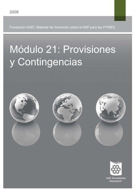 Módulo 21: Provisiones y Contingencias - International Accounting ...