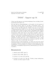 DM507 – Opgaver uge 16 - Institut for Matematik og Datalogi ...