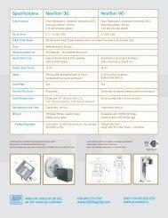 Specifications NewTom 3G NewTom VG