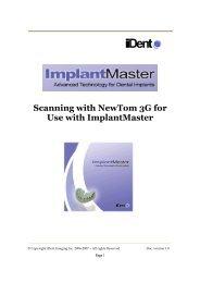 NewTom 3G Scanning Protocol for iDent - Image Works