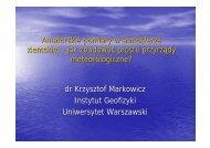 Amatorskie pomiary w atmosferze ziemskiej - jak ... - Instytut Geofizyki
