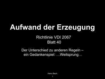 Richtlinie VDI 2067 Blatt 40 - ISH 2013