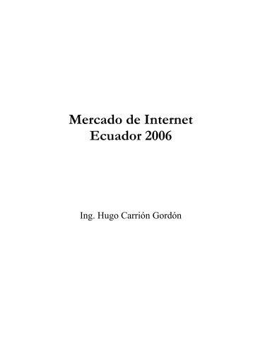 Mercado de Internet Ecuador 2006 - Imaginar