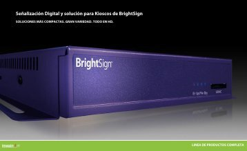 Folleto general de BrightSign - imaginArt