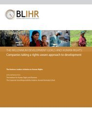 Millennium Development Goals and Human Rights - Institute for ...