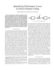 Quantifying Performance Losses in Source-Channel Coding - NTNU