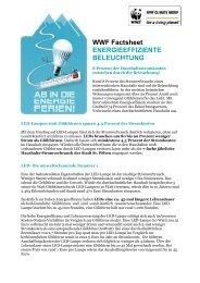 WWF Factsheet: energieeffiziente Beleuchtung (PDF) - Ikea