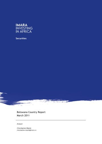 Botswana Country Report March 2011 - Imara