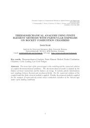 thermomechanical analysis using finite element methods with ...