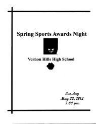 Spring Sports Awards Night Program 2012 - Vernon Hills High School