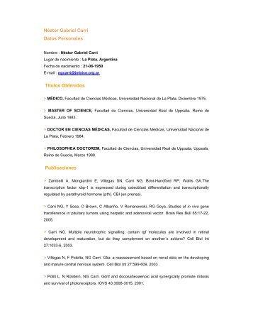 Néstor Gabriel Carri Datos Personales - Imbice > Instituto ...