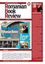 Three Days With Romanian Books in Prague - Institutul Cultural ...