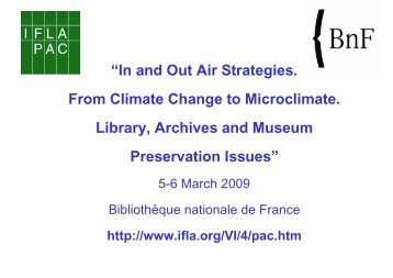 Design of museum and archives storage - IFLA