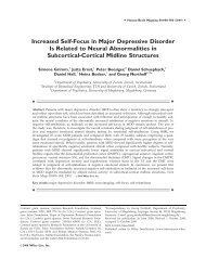 Increased self-focus in major depressive disorder is related to neural ...