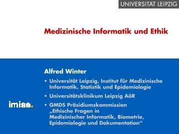 Medizinische Informatik und Ethik (565 kB, 45 Seiten) - Institut für ...