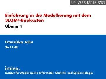 Übung 1 (782 kB, 35 Seiten) - Institut für Medizinische Informatik ...