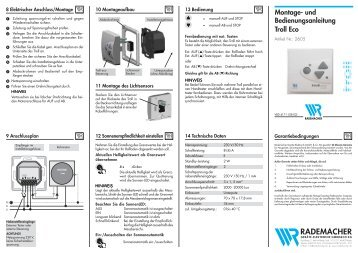 Montage- und Bedienungsanleitung Troll Eco - Driesen