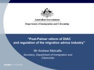 Secretary's address to the Immigration Law Conference of the Law ...