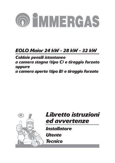 Libretto Istruzioni Eolo Maior 24 28 32 Kw Pdf