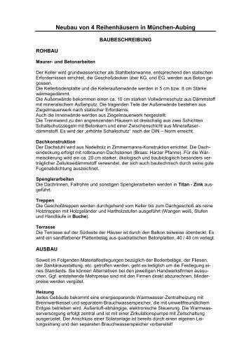 Die Baubeschreibung - Immo-Makler-Schwarz.de