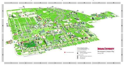 Indiana University Campus Map Indiana University Bloomington Campus Map