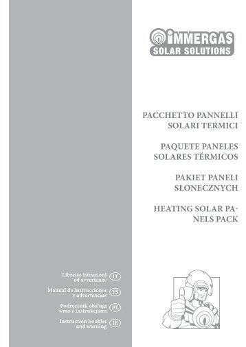 pacchetto pannelli solari termici paquete paneles ... - Immergas