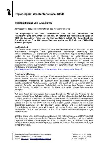 02 FD IBS Jahresbericht _3 - Immobilien Basel-Stadt