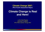 IPCC Fourth Assessment Report Climate Change is Real and Here!