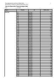 Liste_Baurechte FV 2006 - Immobilien Basel-Stadt