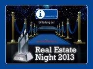 Einladung zur Real Estate Night - Immoinfo24