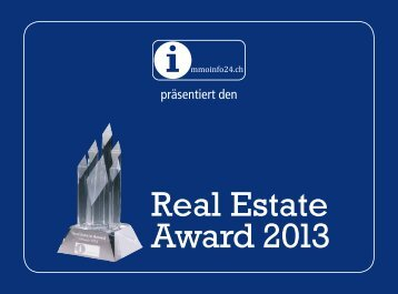 Real Estate Award 2013 - Immoinfo24
