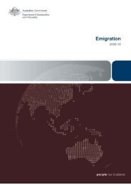 Emigration 2009-10 - Department of Immigration & Citizenship