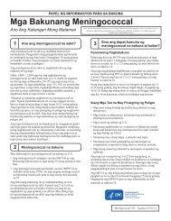 Meningococcal Vaccines - Tagalog