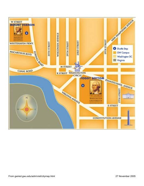 Campus Maps, George Washington University - instructional ...