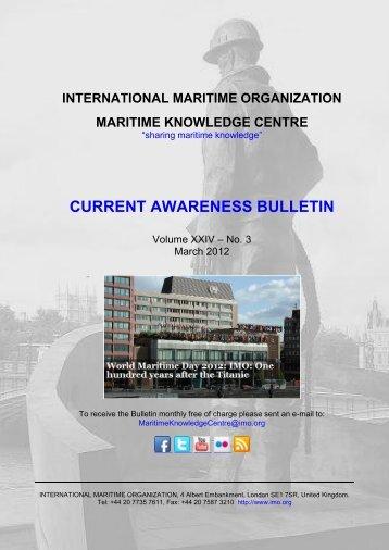CURRENT AWARENESS BULLETIN - IMO
