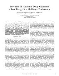 Provision of Maximum Delay Guarantee at Low Energy in a ... - NTNU