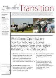 Work Scope Optimization Tool Contributes to Lower ... - AF SBIR/STTR