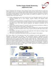 Turbine Engine Health Monitoring Application Suite - Impact ...