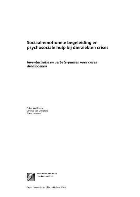 Sociaal-emotionele begeleiding en psychosociale hulp bij ... - Impact