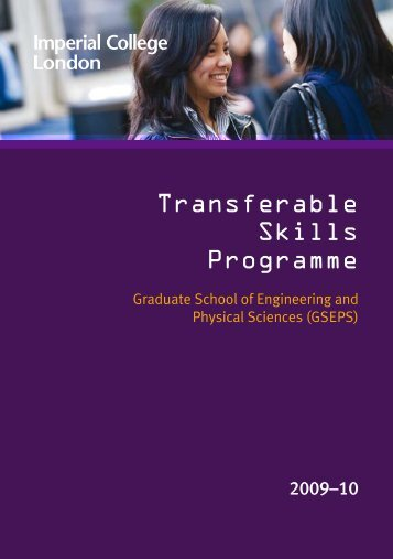 Transferable Skills Programme - Imperial College London