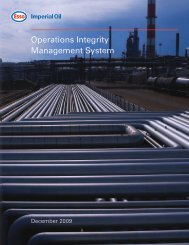 Operations Integrity Management System (OIMS) - Imperial Oil