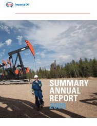 SUMMARY ANNUAL REPORT 2009 - Imperial Oil