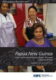 Papua New Guinea Gender and Investment Climate Reform ... - IFC