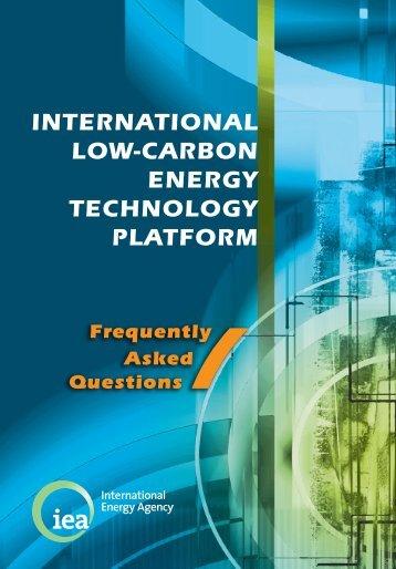 International Low-Carbon Energy Technology Platform - IEA