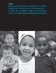 Rapport sur les bonnes pratiques en matière d'exécution fondées ...