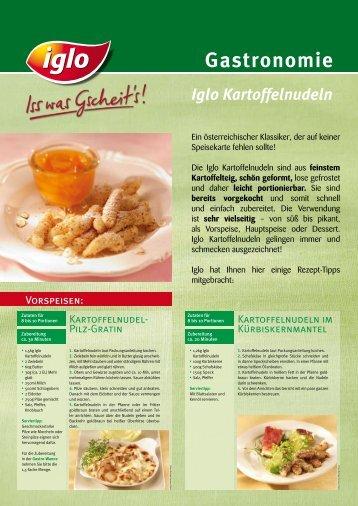 Infoblatt Schupfnudeln - bei Iglo Gastronomie!